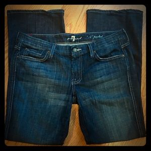 7FAM A pocket bootcut jeans women's 30 EUC